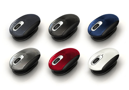 Smartfish Whirl Mini Notebook Laser mouse has an interesting design