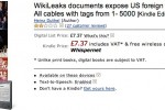 Amazon WikiLeaks ebook back on sale as retailer denies hypocrisy