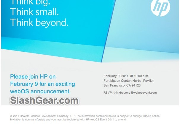 HP webOS Special Announcement Scheduled for February 9th