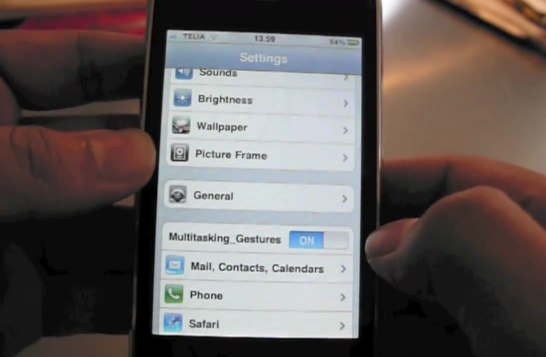 iPhone iOS 4.3 multitouch gestures get video demo