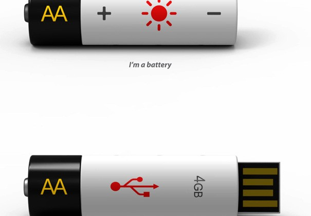 AA USB Concept Design Combines USB Drive and AA Battery