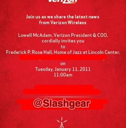Verizon Announces Event for January 11th