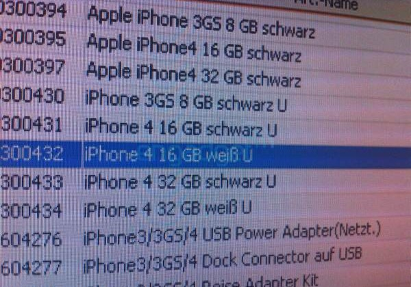 White iPhone 4 Shows Off in Vodafone Germany's Inventory System, Still No Release Date
