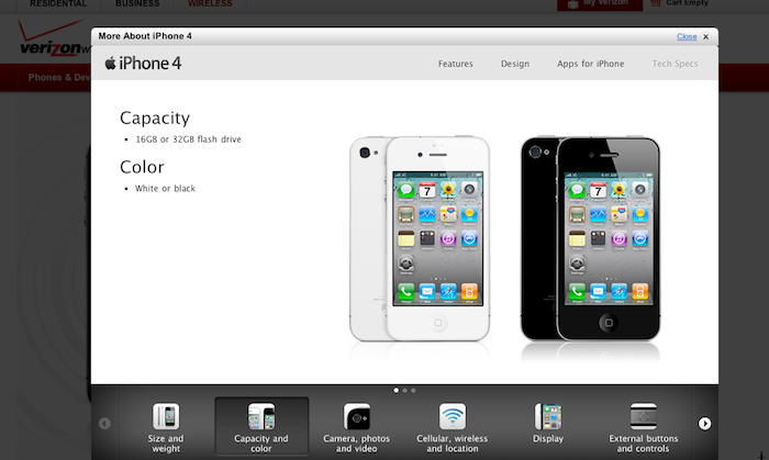 White iPhone 4 Appears on Verizon Product Page [Update]
