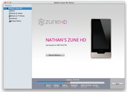 Windows Phone 7 Connector for Mac Works with Zune HD
