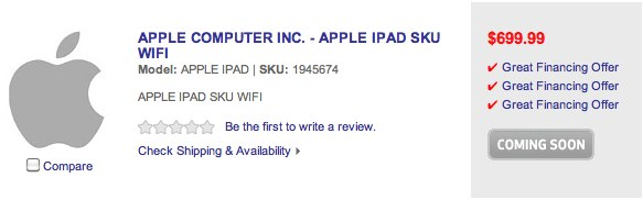 "Best Buy lists three new iPad models ""coming soon"""