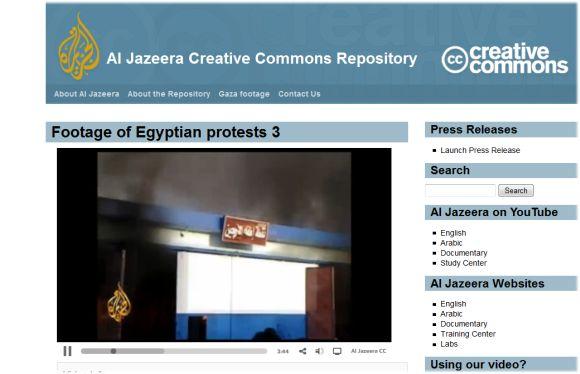Al Jazeera Puts Egypt Coverage Under Creative Commons License