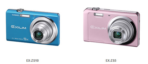 Casio EX-ZS10, EX-ZS5, EX-H30, and EX-ZR100 cameras launch