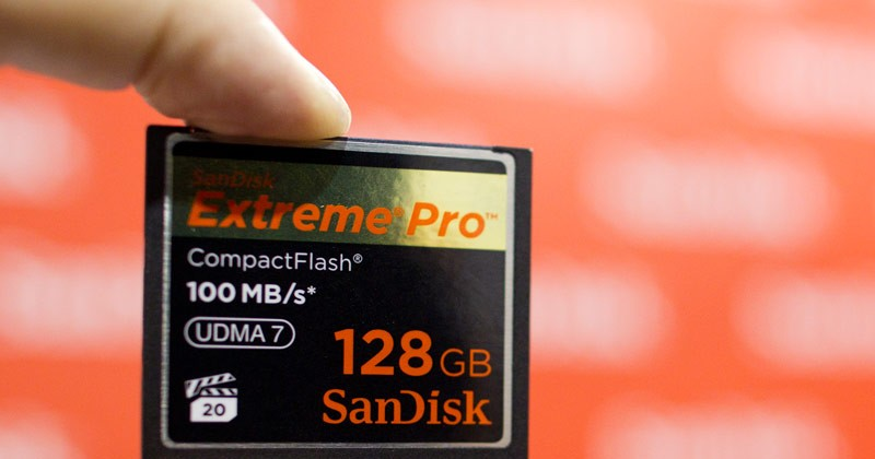 SanDisk Extreme Pro 128GB UDMA 7 is $1,500 CompactFlash