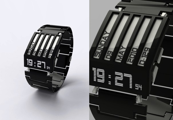 HorodronHD-01 Concept Watch Features E-Ink Display