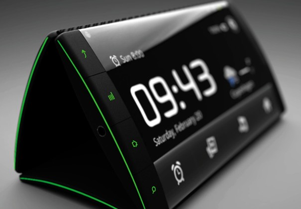 """Android """"Flip Phone"""" Concept with Three Flexible AMOLED Touchscreens"""