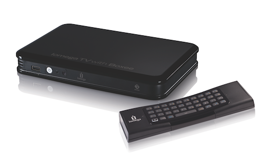 Iomega TV with Boxee blends STB with NAS