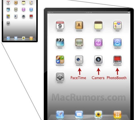 iPad 2 FaceTime, Camera and PhotoBooth support spotted