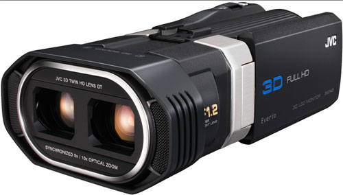 JVC unveils cool full HD 3D consumer camcorder