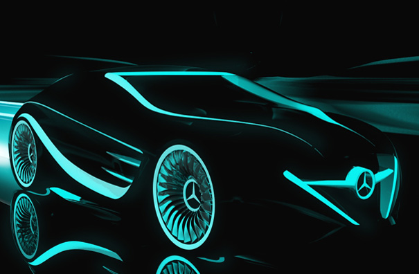 Blackbird Mercedes TRON Concept For Great Light Justice