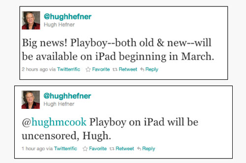 Entire Playboy back catalog coming to iPad