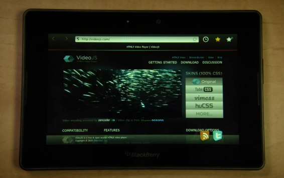 BlackBerry PlayBook gets browser demo: Flash, HTML5, more [Video]