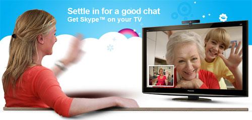 Skype headed to Sony Bravia and Vizio Via TVs soon