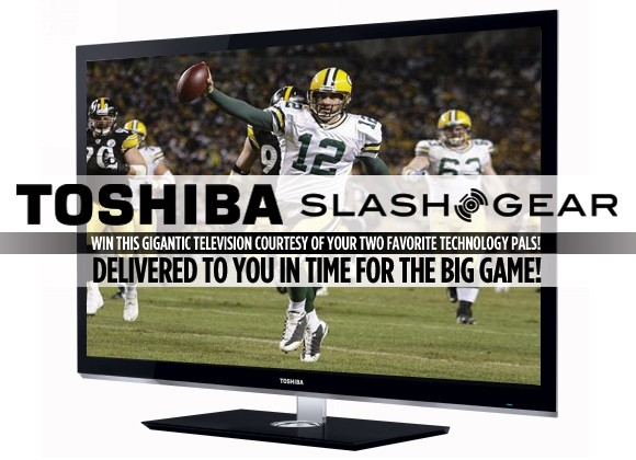 SlashGear's Final Football Matchup Toshiba TV GIVEAWAY!