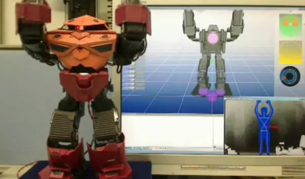 Kinect robot control hack gives you an aerobics buddy [Video]