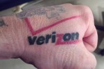 Verizon Tattooed on Mans Hand, Forehead Next (Really!) [Video]