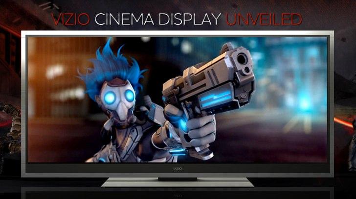 Vizio 21:9 Cinema Display HDTV promises 2560 x 1080p
