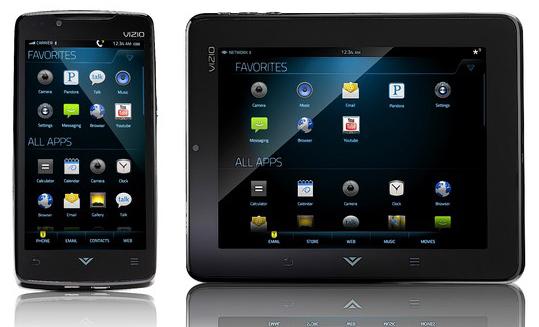 Vizio's Android Via Tablet and Via Phone revealed