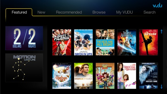 VUDU 2.0 UI released today: HDTVs, Blu-ray, PS3 & Boxee Box to benefit
