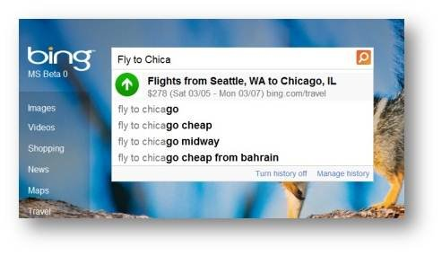 Bing Launches Autosuggest Flight and Price Predictor Travel Search