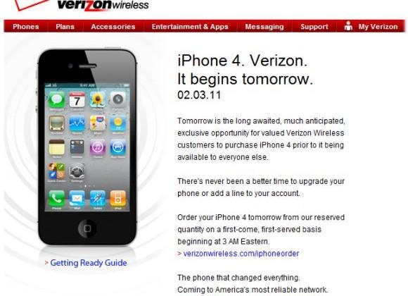 Verizon iPhone 4 Launches Tomorrow