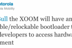 Motorola XOOM To Have Unlockable, Relockable Bootloader