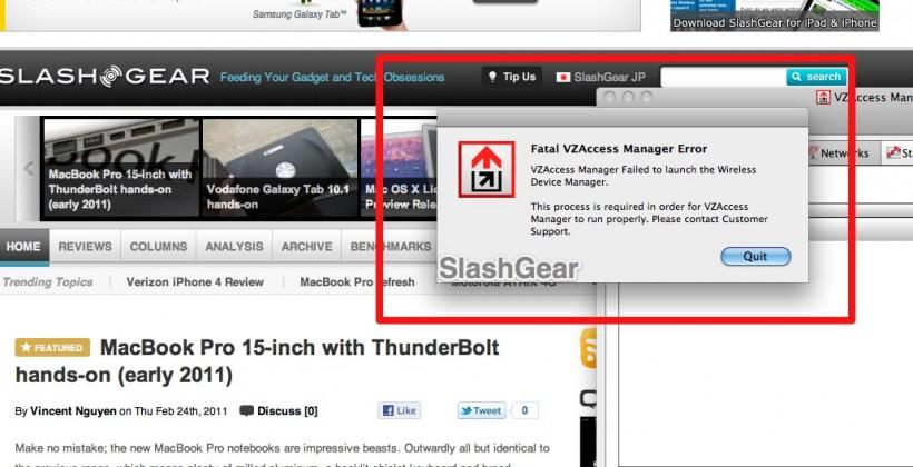 MacBook Pro Sandy Bridge Doesn't Work with Verizon LTE Pantech Card/Software [BREAKING]