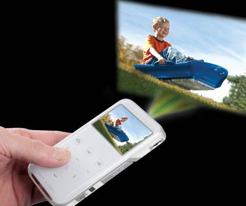Hammacher Schlemmer The Camcorder Projector breaks cover ...