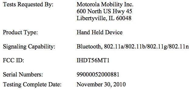 WiFi-only Motorola XOOM clears FCC