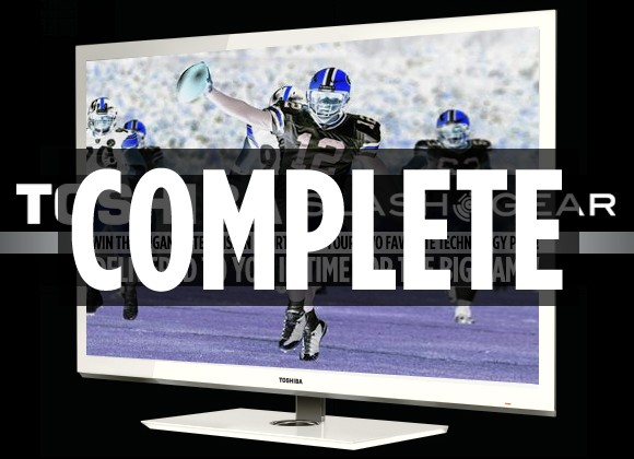 SlashGear's Final Football Matchup Toshiba TV Giveaway WINNER
