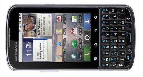Motorola debuts Pro smartphone at MWC 2011