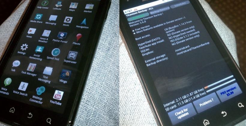 AT&T Motorola ATRIX 4G already rooted