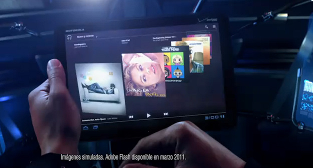 Verizon Sneaks In Another Motorola Xoom Ad