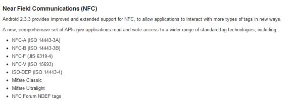 Android 2.3.3 Adds NFC Capabilities to Developers