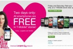 T-Mobile: All Smartphones Free February 11 & 12