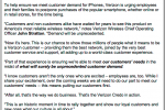 "Verizon Employees Asked to ""Focus on the Customer"" – Wait for the iPhone"