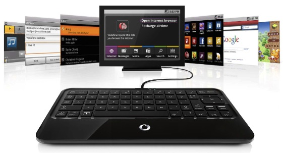 Vodafone Webbox internet keyboard plugs into your TV [Video]
