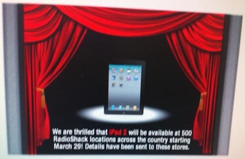 iPad 2 Arrives at Radio Shack TOMORROW
