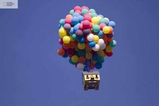 """Real Life Disney """"Up"""" House Flown On National Geographic Show"""