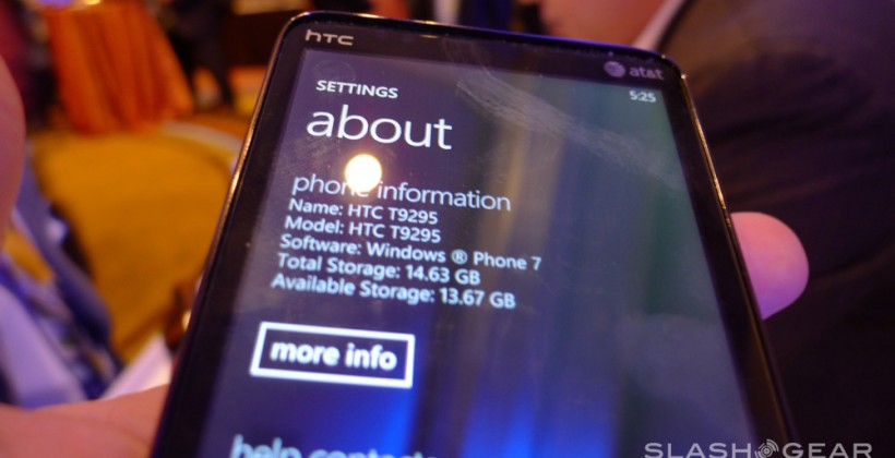 HTC HD7S Windows Phone 7 Hands-On
