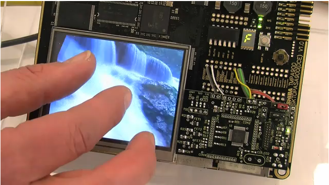 Toshiba Resistive Multi-touch from Embedded World