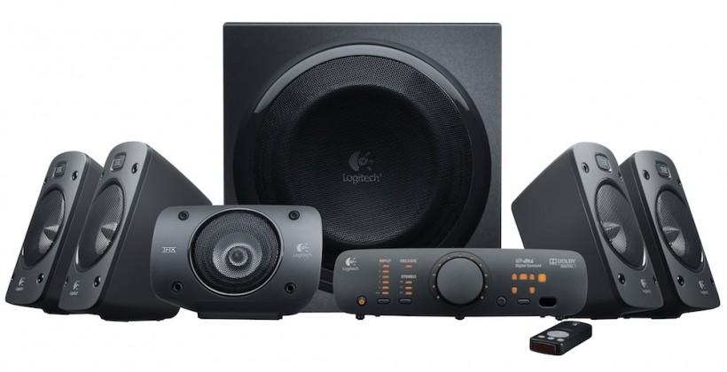Logitech Surround Sound Speakers Z906 pack 500W of THX-certified audio