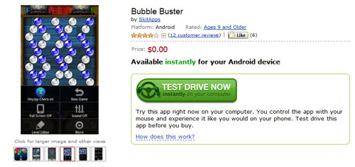 Test drive Android apps on Amazon Appstore