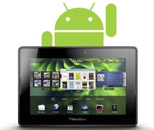 RIM To Support Android Apps For BlackBerry PlayBook