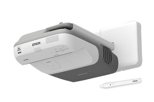 Epson BrightLink 455Wi interactive digital projector can work on a wall or a table